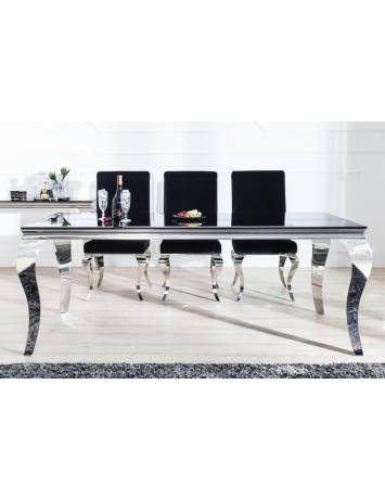 MASA DINING ELEGANTA BAROCK 37356 DIN STICLA SI METAL DESIGN EXCLUSIVIST