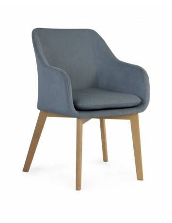 SCAUN DESIGN SCANDINAV HUAN GRI INCHIS/NATURAL