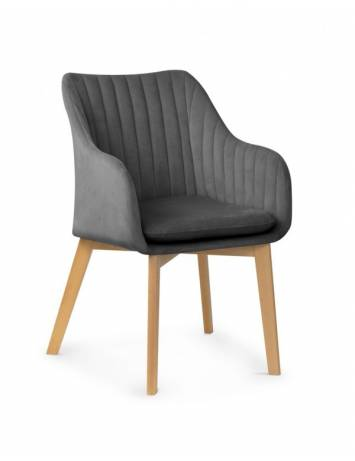 SCAUN DESIGN SCANDINAV HUAN 2 GRI INCHIS/NATURAL