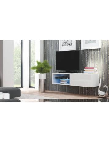 COMODA LIVO RTV-120W ALB - DESIGN MODERN - HALMAR