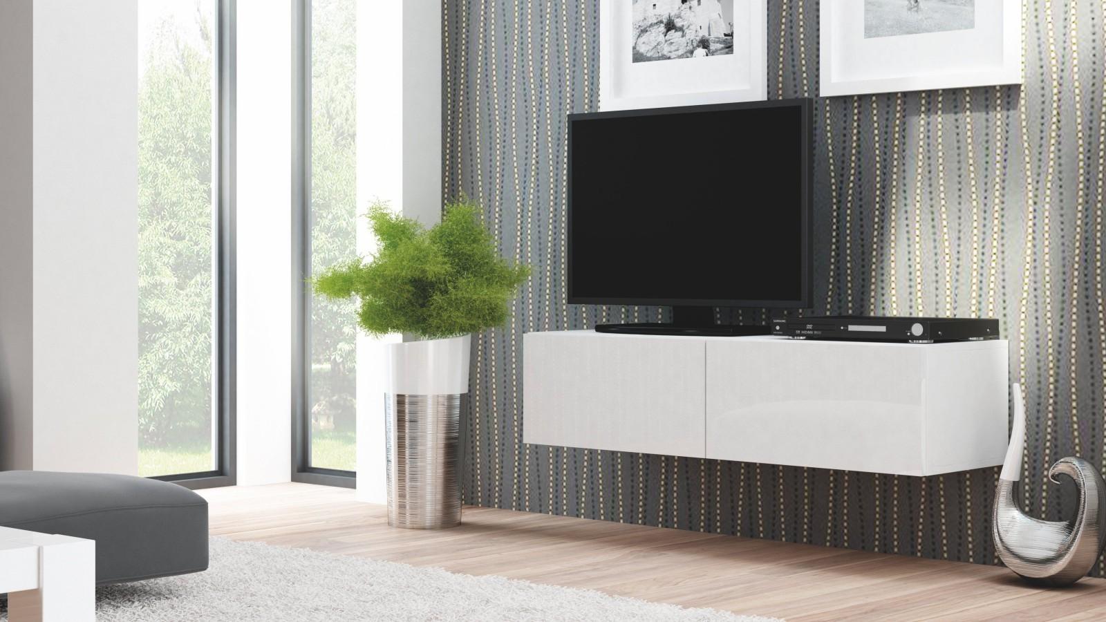 COMODA LIVO RTV-160W ALB - DESIGN MODERN - HALMAR
