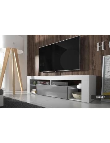 COMODA TV HUGO DE CULOARE GRI140CM DESIGN MODERN