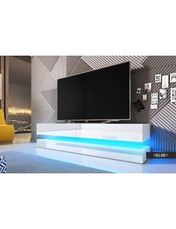 COMODA TV AVIATOR DE CULOARE ALBA 140CM DESIGN MODERN