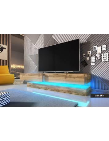 COMODA TV AVIATOR DE CULOARE STEJAR 140CM DESIGN MODERN