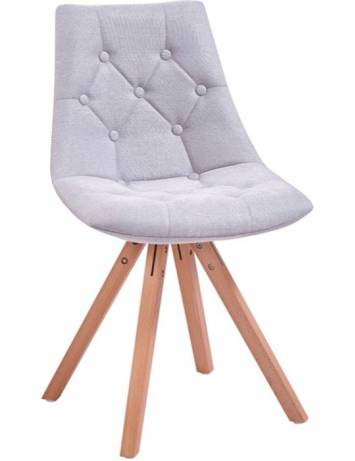 SCAUN KING GRI DESCHIS/NATURAL - DESIGN SCANDINAV