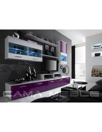 SET LIVING CU LED LOGO II ALB/VIOLET DESIGN MODERN CM