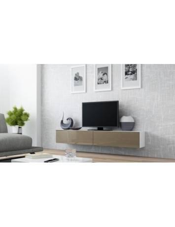 COMODA LIVING RTV VIGO 140 MINI ALB/LATTE DESIGN MODERN CM