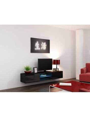 COMODA LIVING CU LED RTV VIGO 180 NEAGRA DESIGN MODERN CM