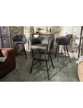 SCAUN DE BAR GRI ANTIC LOFT 39081 DESIGN VINTAGE