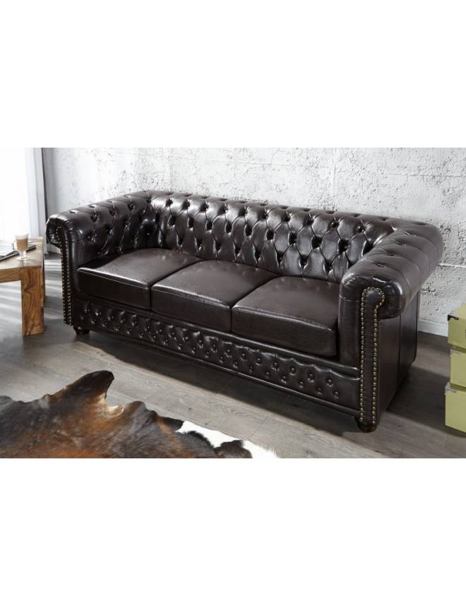 SOFA CAFENIU INCHIS CHESTERFIELD 9686 DESIGN VINTAGE