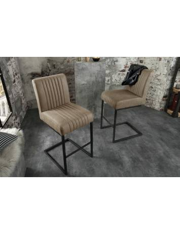 SCAUN DE BAR BIG ASTON TAUPE 39056 STIL INDUSTRIAL
