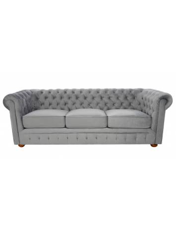 SOFA CHESTERFIELD 220CM GRI DESCHIS DIN STOFA DE LUX DESIGN DEOSEBIT