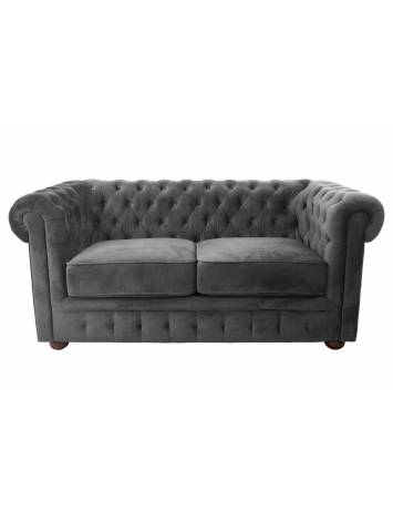 SOFA CHESTERFIELD 164CM GRI DIN STOFA DE LUX DESIGN DEOSEBIT