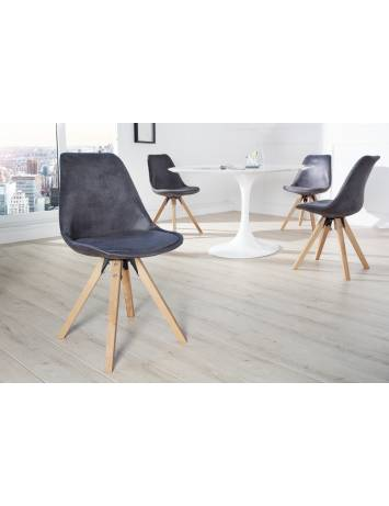 SET 4 SCAUNE GRI ANTIC SCANDINAVIA 36505 - DESIGN SCANDINAV