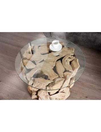 MASUTA DE CAFEA NATURE LOUNGE 23208-1 + 23208-2 DESIGN RUSTIC