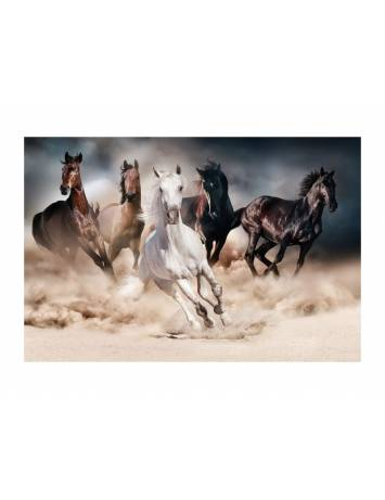 TABLOU DECORATIV HORSES 120X80 DIN STICLA DESIGN EXCLUSIVIST