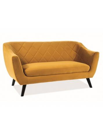SOFA DESIGN SCANDINAV MOLLY 2 CURRY DIN LEMN SI TAPITAT IN TEXTIL CATIFEA