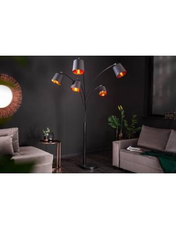 LAMPADAR ORIENTABIL LEVEL 202CM NEGRU/AURIU 40036 DESIGN MODERN