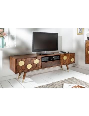 COMODA TV 140CM, MYSTIC DIN LEMN SALCAM, COD 39949, STIL RETRO