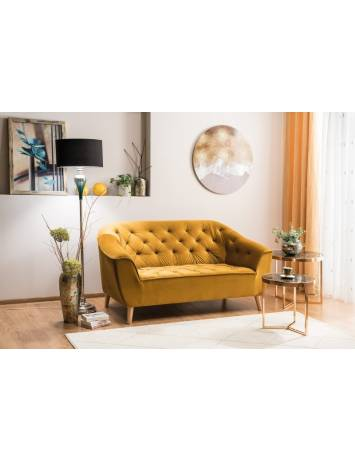 SOFA GALAXY 2 VELVET GALBEN CURRY BLUVEL 68/FAG STIL SCANDINAV SIGNAL