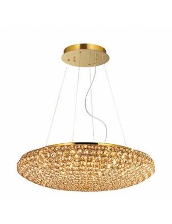 LUSTRA CRISTAL KING SP12 GOLD STIL MODERN IDEAL LUX