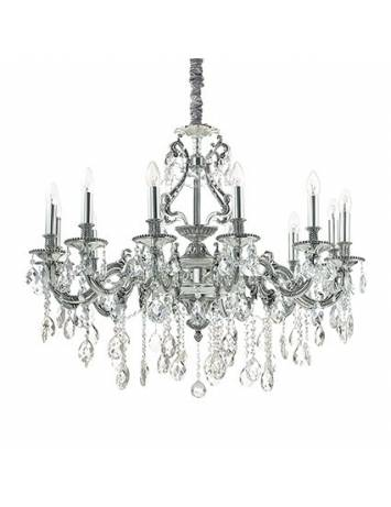 CANDELABRU GIOCONDA SP12 ARGINTIU STIL CLASIC IDEAL LUX