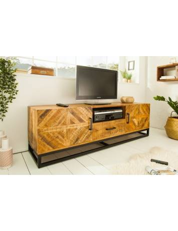 COMODA TV LIVING INFINITY 160 DIN LEMN MASIV DE MANGO 39240 DESIGN VINTAGE