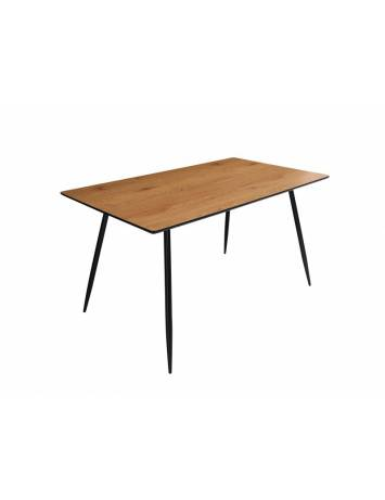 MASA DINING 140 CM APPARTMENT 40476 STEJAR, DIN MDF SI METAL STIL SCANDINAV