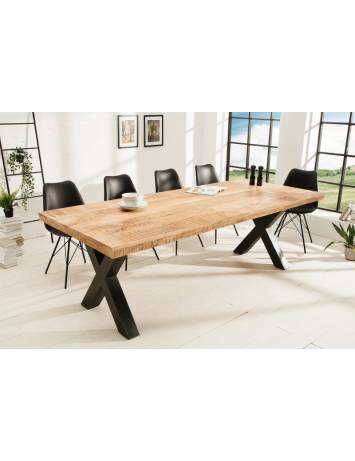 MASA DINING IRON CRAFT X II 240CM, COD 40057, LEMN MASIV MANGO 70MM