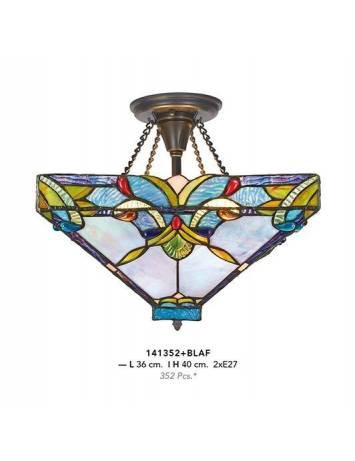 PLAFONIERA DEOSEBITA TIFFANY, COD 141352+BLAF, DIN METAL SI STICLA