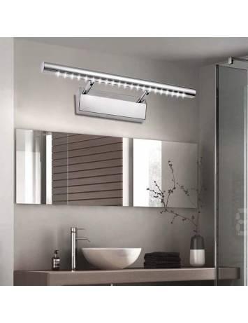 APLICA LED BAIE MIRROR APP362-1W, 7W, 55X2.5 cm, CROM/ARGINTIU, DIN OTEL INOXIDABIL SI METAL, STIL MODERN, TU