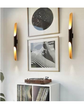APLICA TUBA BLACK/GOLD AP299-1W, 19x60 cm, NEGRU SI AURIU, DIN METAL, STIL MODERN, TU