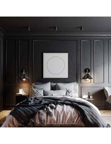 APLICA PORTO KINKIET BLACK, 27x16 cm, NEGRU SI AURIU, DIN METAL, STIL MODERN, TU