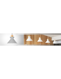 PENDUL PURI WHITE APP087-1CP, 25x160 cm, ALB, DIN ALUMINIU DE INALTA CALITATE, STIL MODERN, TU