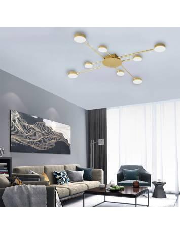 PLAFONIERA GOLD 8 LED, APP524-8C, 91x91 cm, AURIU, DIN OTEL DE INALTA CALITATE, STIL MODERN, TU