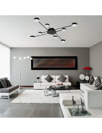 PLAFONIERA MODERN LED 8, APP523-8C, 91x91 cm, NEGRU, DIN OTEL DE INALTA CALITATE, STIL MODERN, TU