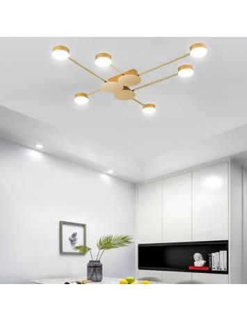 PLAFONIERA MODERN LED 6, APP521-6C, 117x85 cm, AURIU, DIN OTEL DE INALTA CALITATE, STIL MODERN, TU