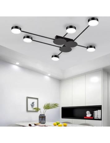 PLAFONIERA MODERN LED 6, APP521-6C, 117x85 cm, NEGRU, DIN OTEL DE INALTA CALITATE, STIL MODERN, TU