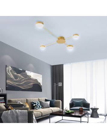 PLAFONIERA MODERN 6 LED, APP520-4C, 20x14 cm, AURIU, DIN OTEL DE INALTA CALITATE, STIL MODERN, TU