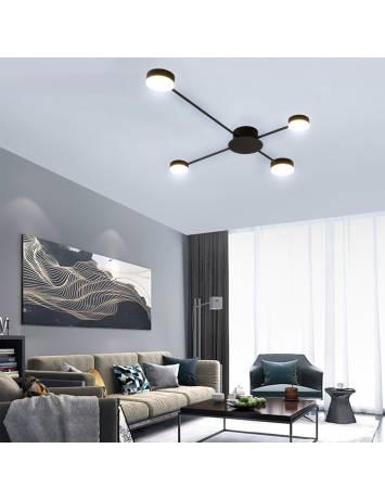 PLAFONIERA MODERN 4 LED, 20x14 cm, NEGRU, DIN OTEL DE INALTA CALITATE, STIL MODERN, TU