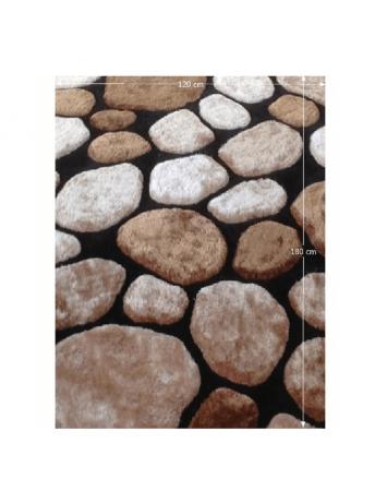 Covor 120x180 cm, maro/bej/negru, PEBBLE TYP 2, 0000201400