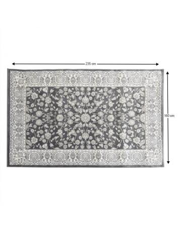 Covor 160x235 cm, gri închis/model flori, AZIR, 0000206662