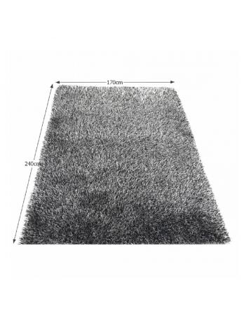 Covor 170x240 cm, crem/negru, VILAN, 0000194108