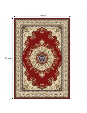 Covor 160x235 cm, vişiniu/amestec de culori/model oriental, KENDRA TIP 3, 0000206717