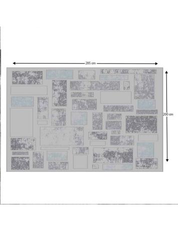 Covor 200x285 cm, gri deschis/gri închis, HEATHER, 0000193348