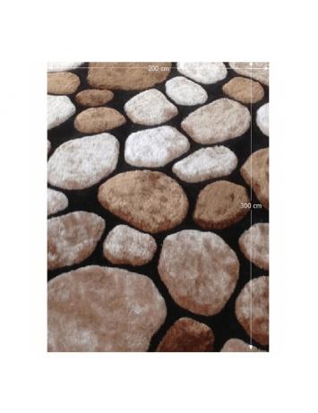 Covor 200x300 cm, maro/bej/negru, PEBBLE TYP 2, 0000201397