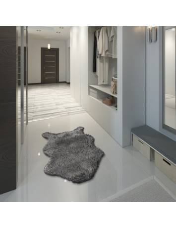 Blană artificială, gri/argint, 60x90, FOX TYP 2, 0000229948