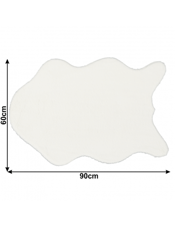 Blană artificială, alb, 60x90, RABIT NEW TYP 7, 0000229889