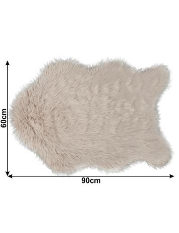 Blană artificială 60x90 cm, bej, EBONY TYP 2, 0000194130
