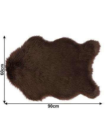 Blană artificială 60x90 cm, maro, EBONY TYP 3, 0000194131